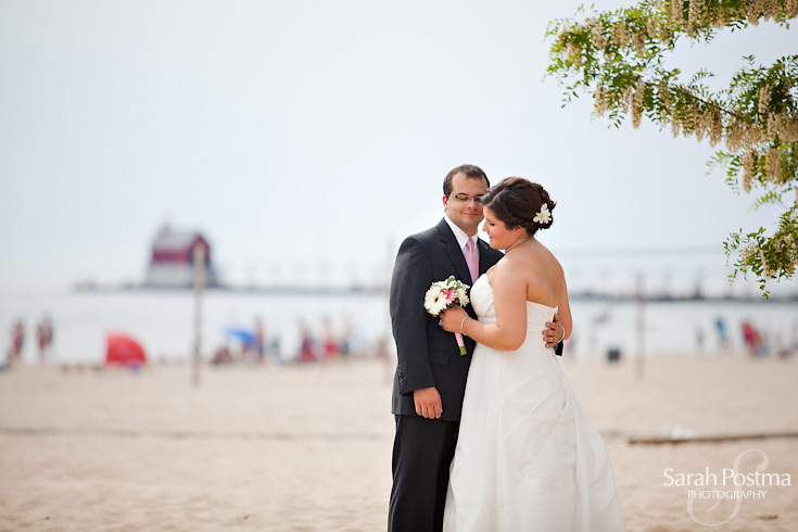 In June They Donned Their Wedding Attire Again For A Photo Shoot Grand Haven Michigan And Enjoyed Lovely Reception With Family Friends